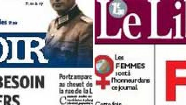 'La Libre de Belgique' y 'Le Soir' han cambiado por un día su género, aunque la única portada disponible en Internet con el cambio es la del primero.