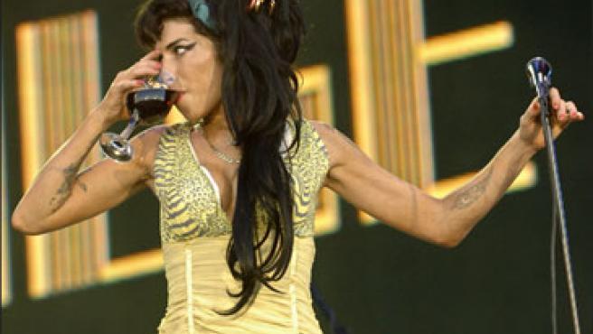 Amy Winehouse durante su visita a España el pasado verano (KORPA).