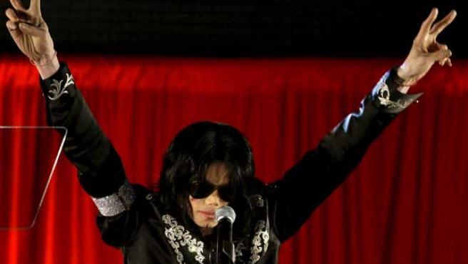 Michael Jackson, la semana pasada en Londres.