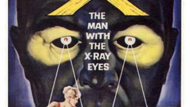 Cartel de 'El hombre con rayos X en los ojos'.