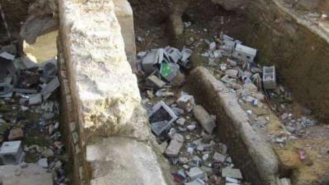 Estado en que se encuentran las catas arqueológicas de los Jardines del Valle.