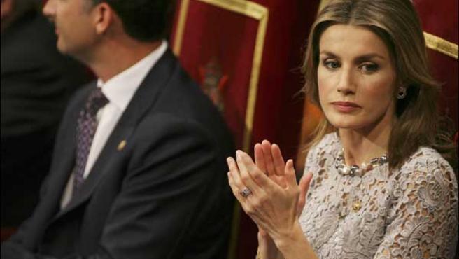 La Princesa Letizia durante los últimos Premios Príncipe de Asturias (KORPA).