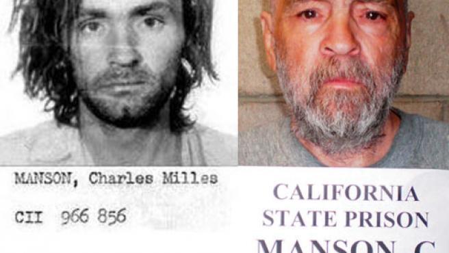 Manson, en enero de 1971 (i), y en la foto difundida este 18 de marzo.