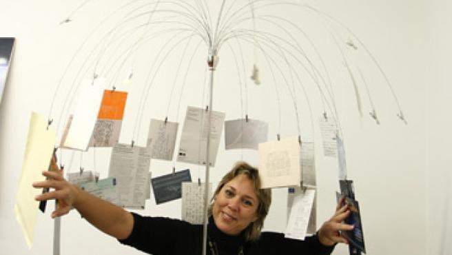 Tamzin Townsend, en la oficina de Madrid donde atendió a '20 minutos'.