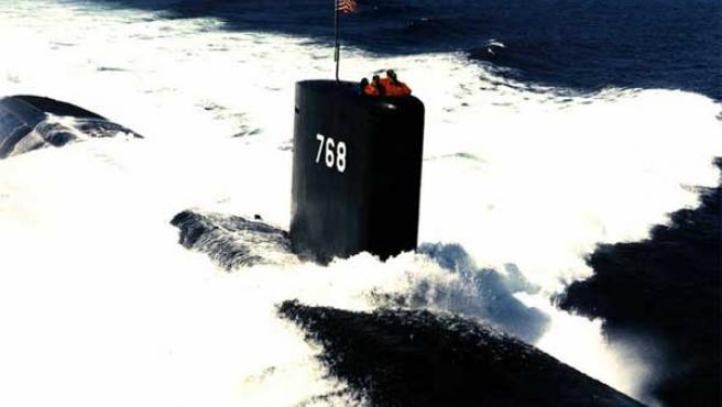 El submarino nuclear 'USS Hartford'.
