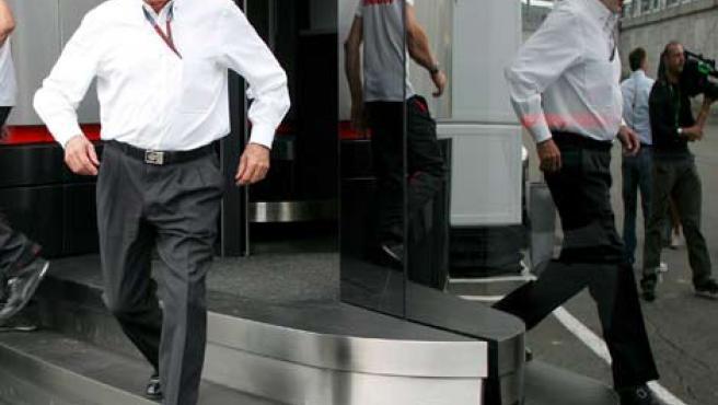 El patrón de la Fórmula 1, Bernie Ecclestone.