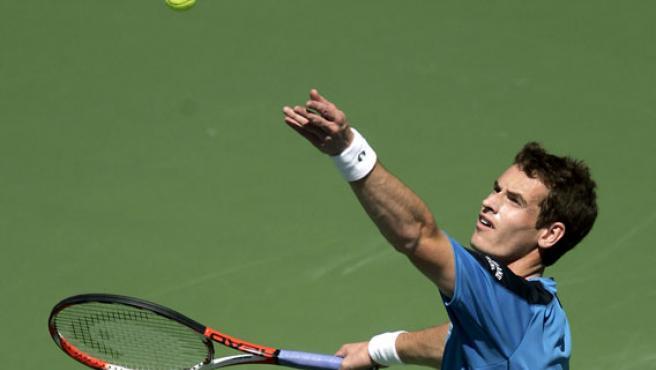 Andy Murray, durante el partido ante Roger Federer.