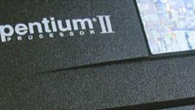 Un antiguo procesador 'Pentium' de Intel.