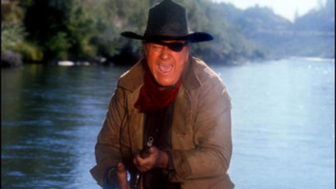 Imagen de 'Valor de ley', protagonizada por John Wayne.
