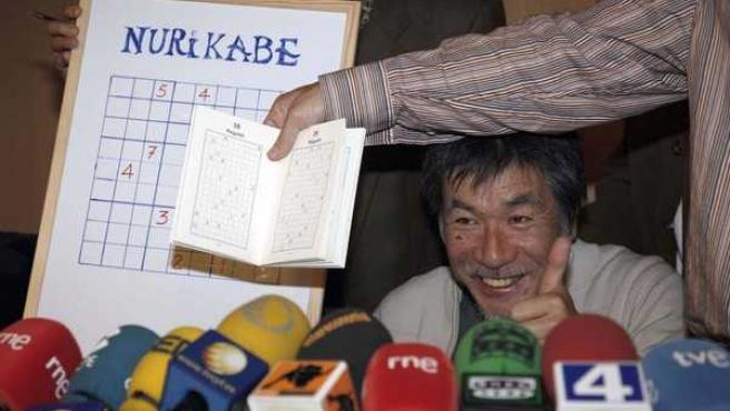 El promotor del Sudoku, Maki Kaji, en Salamanca.