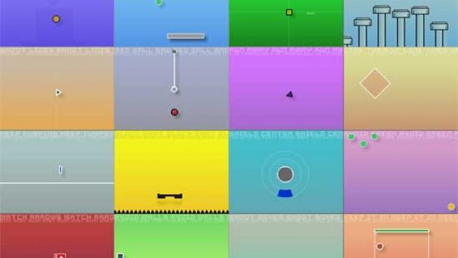 Los juegos de Grid 16 tienen una estética muy simple.