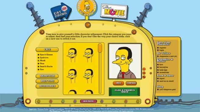 Simpsonizeme convierte fotos reales en dibujos estilo Simpson.