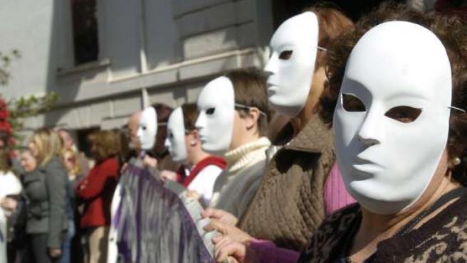 Una concentración contra la violencia machista. (ARCHIVO)