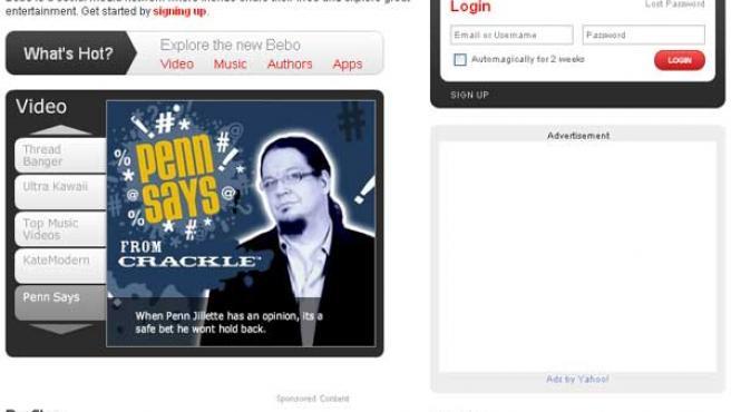 Página principal del servicio online adquirido por AOL