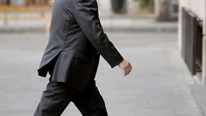 El juez Baltasar Garzón, a su llegada a la Audiencia Nacional.