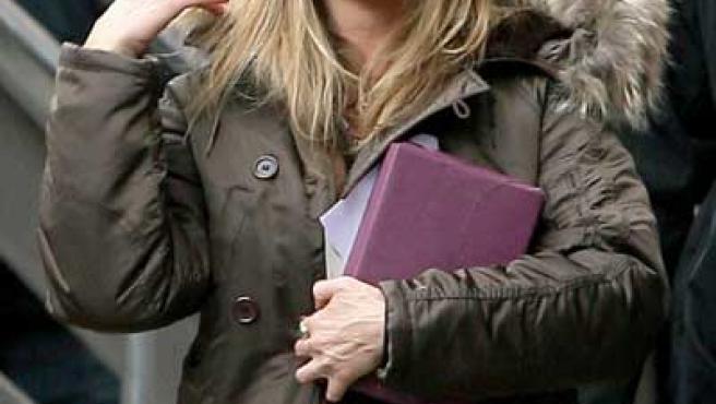 Aniston, en el rodaje de 'The Buster'.