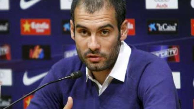 Josep Guardiola, en rueda de prensa