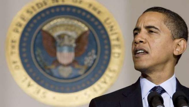 El presidente de EE UU, Barack Obama, durante su discurso en la Casa Blanca (REUTERS).