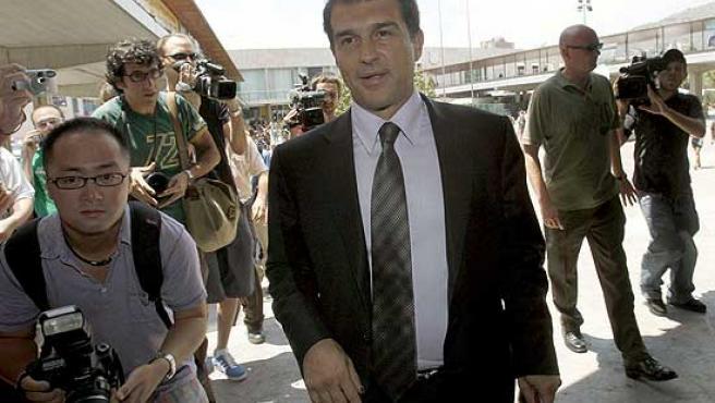 Joan Laporta, en las instalaciones del Barça.