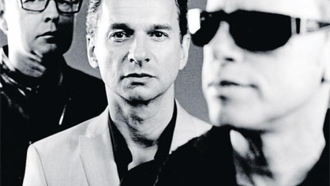 Andrew Fletcher, Dave Gahan y Martin L. Gore (de izquierda a derecha): Depeche Mode.