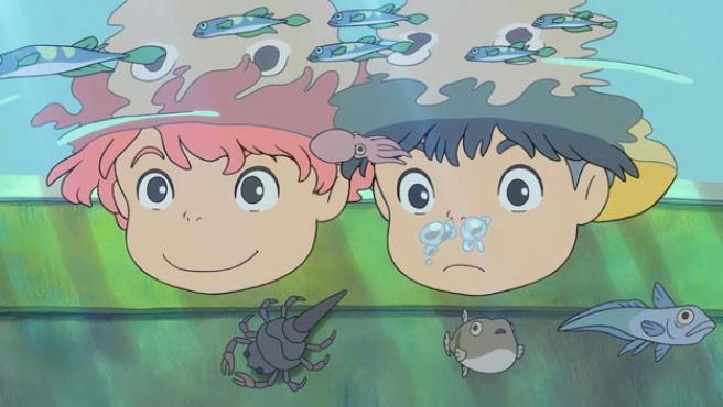 Una imagen de 'Ponyo en el acantilado'.