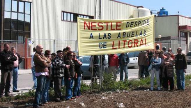 Trabajadores de Litoral, manifestándose