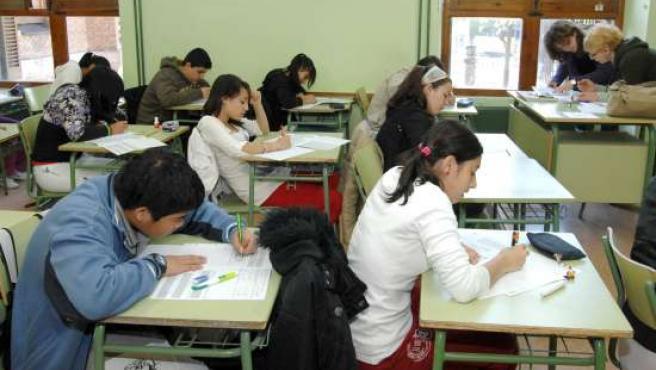 Alumnos de Secundaria.