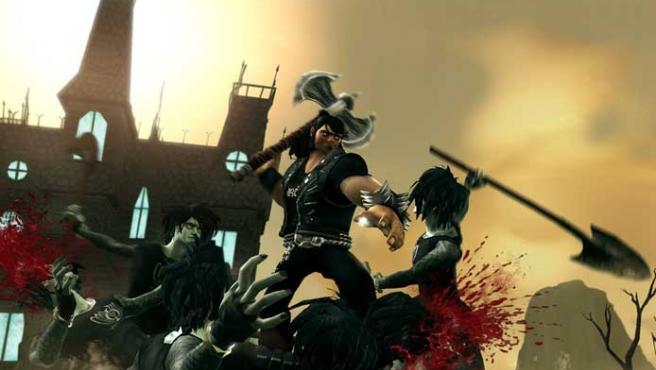 Jack Black le pone su voz al protagonista de 'Brutal Legend'.