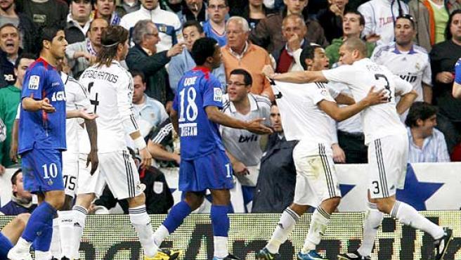 Una imagen del partido Real Madrid-Getafe.