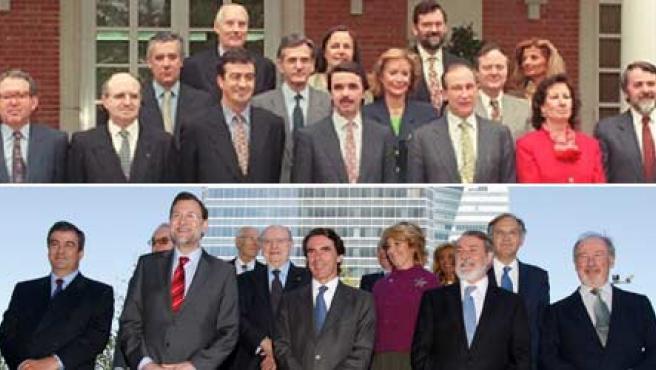El equipo de Aznar, 13 años después.