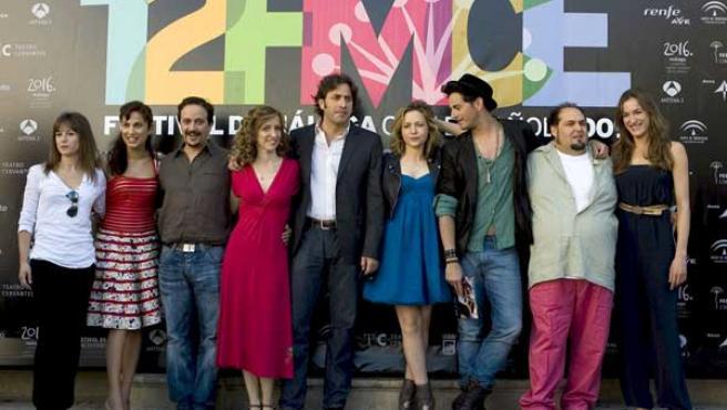 Equipo de la película '7 minutos' en el festival de Málaga.