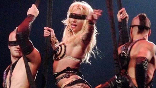 Britney Spears, en uno de sus conciertos de la gira Circus.