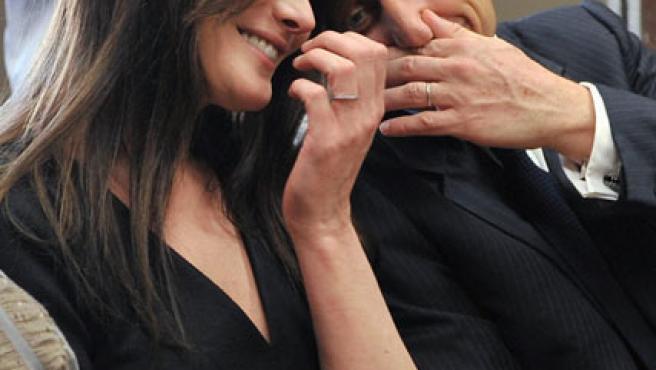 Carla Bruni y Nicolas Sarkozy.