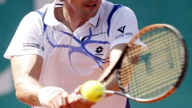 Juan Carlos Ferrero en el torneo de Casablanca.