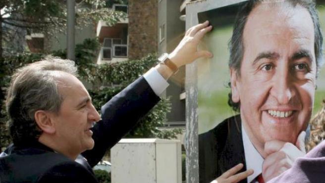 El candidato socialdemócrata, Jaume Bartumeu, durante la campaña electoral.