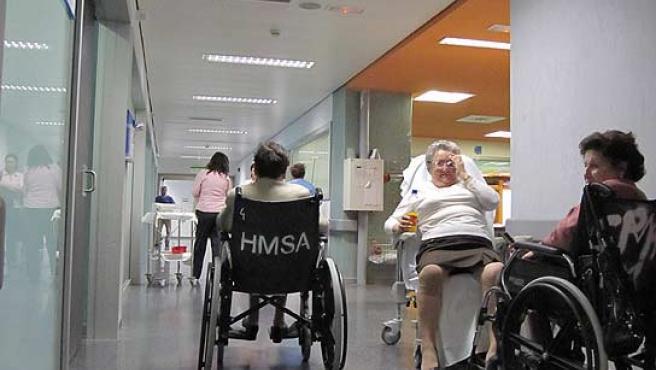 Sevicio de urgencias del hospital Puerta de Hierro.