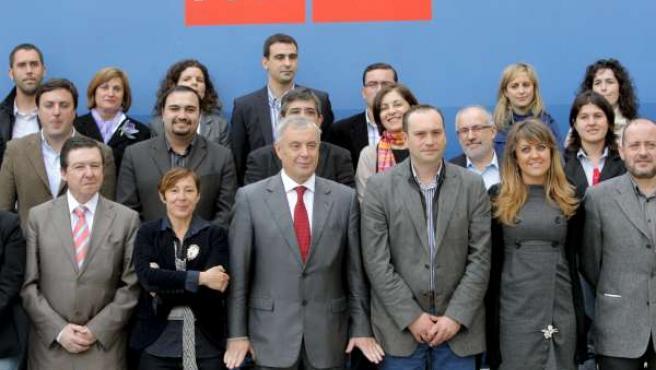 Nueva ejecutiva del Partido Socialista de Galicia.