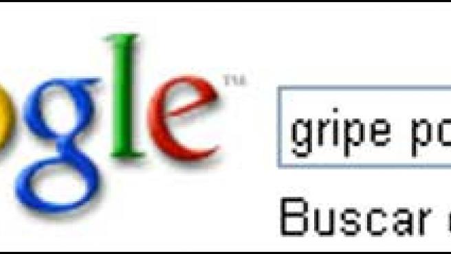 Búsqueda de 'gripe porcina' en Google.