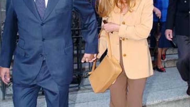 Lydia Bosch y Alberto Martín, en una foto de 2004.