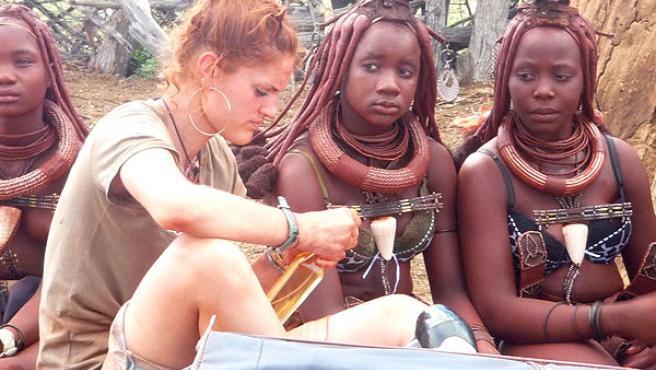 Una de las participantes de 'Perdidos en la tribu'.