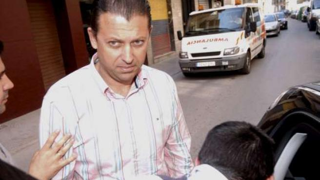El constructor José Cáceres Olivares, detenido por la Policía Nacional en Lorca.