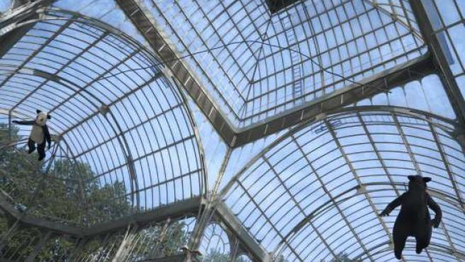 Imagen de la instalación en el Palacio de Cristal.