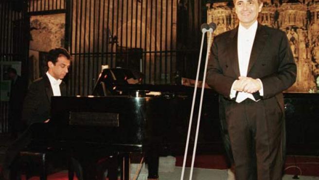 El tenor Josep Carreras, en un concierto benéfico.