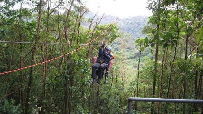 Canopy en Costa Rica.