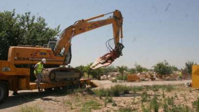 Demoliciones en las parcelas