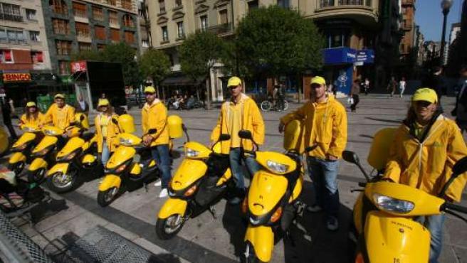 Los 'telerecicladores', en Gijón