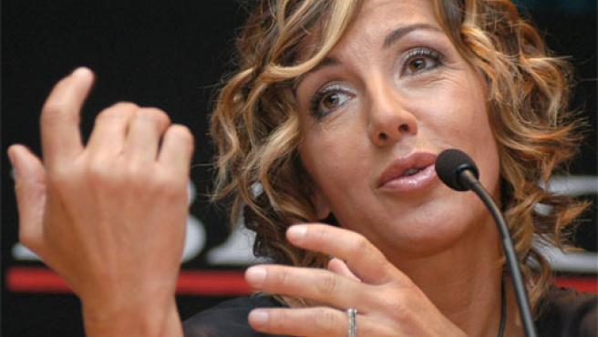 Ana Torroja, durante la presentación de su último disco en México.