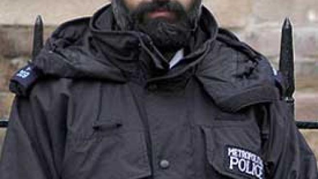 Un agente de policía sij.