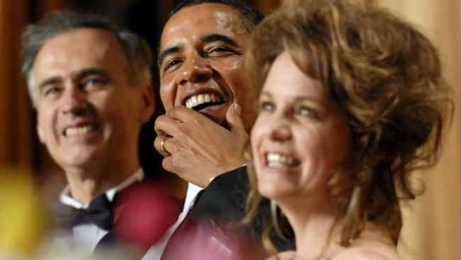 Obama, durante la cena anual con prensa, políticos y gentes del espectáculo.
