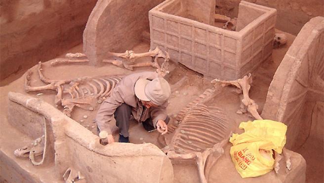 Hallazgo arqueológico. ARCHIVO